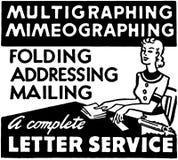 Listowa usługa royalty ilustracja