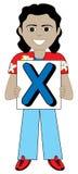 Listowa X chłopiec Zdjęcie Royalty Free