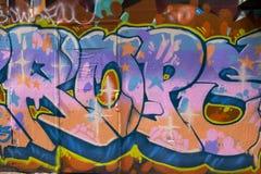Listowi graffiti, Melbourne, Australia Obraz Stock