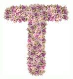 Listowy abecadło z kwiatu ABC pojęcia typ jako logo Zdjęcia Royalty Free