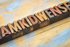Listowy abstrakt w letterpress drewna typ Obrazy Stock