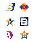 Listowy b abecadła loga wektor Obrazy Royalty Free
