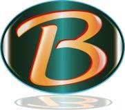 Listowy b loga wektor royalty ilustracja