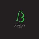 Listowy b logo - symbol twój biznes Zdjęcie Stock