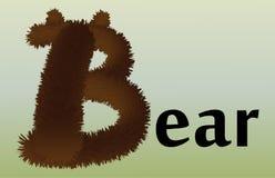 Listowy b z skutkiem futerko royalty ilustracja