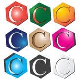 Listowy C logo ilustracji