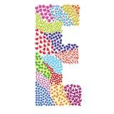 Listowy E ilustracja wektor