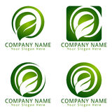 Listowy E Dla ekologii i środowiska pojęcia loga Obrazy Royalty Free