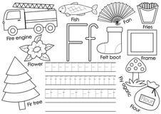 Listowy f abecadło anglicy marzną lekkich fotografii obrazki bierze technologię używać był Edukacyjna gra dla dzieci royalty ilustracja
