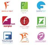 listowy F logo Zdjęcia Royalty Free