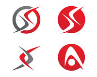 Listowy Finansowy logo Zdjęcie Stock