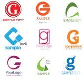 listowy G logo Zdjęcia Stock