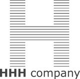 Listowy H Pasiasty logo Obrazy Royalty Free