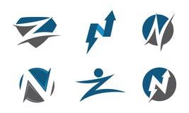 Listowy i numerowy logo Zdjęcia Stock