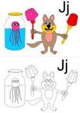 listowy j worksheet Zdjęcia Royalty Free