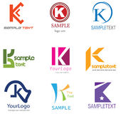 listowy K logo Zdjęcia Royalty Free