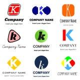 Listowy K logo ilustracji