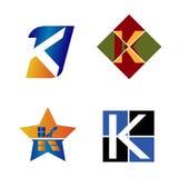 Listowy K logo Zdjęcie Stock