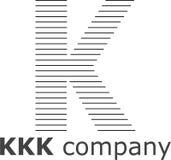 Listowy K Pasiasty logo Obraz Stock