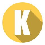 Listowy K z długim cieniem Wektorowa ilustracja EPS10 ilustracji