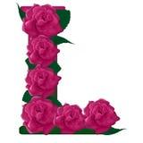 Listowy L śliczna kwiat ilustracja Fotografia Stock