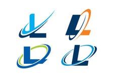 Listowy L nieskończoności pojęcie Obraz Stock