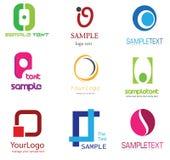 listowy logo o Zdjęcie Stock