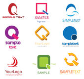 listowy logo q ilustracja wektor