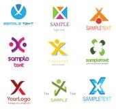 listowy logo x ilustracja wektor