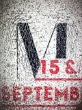 Listowy M Obraz Stock