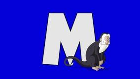 Listowy M i małpa (przedpole) royalty ilustracja