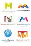 Listowy M logo Zdjęcia Royalty Free