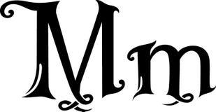 Listowy M monogram royalty ilustracja