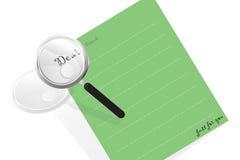 listowy magnifier Zdjęcie Royalty Free