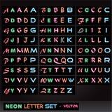 listowy neonowy set Obrazy Stock
