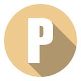 Listowy P z długim cieniem Wektorowa ilustracja EPS10 ilustracja wektor