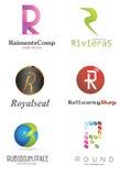 Listowy R logo Obraz Stock