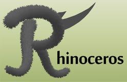 Listowy R z skutkiem futerko ilustracji
