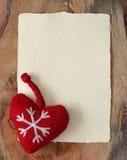 listowy stary pergaminowy Santa Zdjęcie Stock