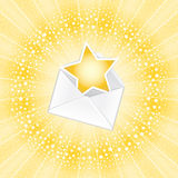 listowy szczęsliwy Obraz Stock