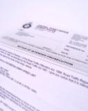 listowy wniesienie oskarżenia Obraz Stock