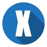 Listowy X z długim cieniem Wektorowa ilustracja EPS10 ilustracja wektor