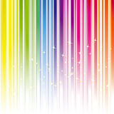 Listra abstrata da cor do arco-íris com estrelas Foto de Stock Royalty Free