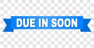 Listra azul com DÍVIDA LOGO no texto ilustração do vetor