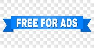 Listra azul com o LIVRE PARA o subtítulo do ADS ilustração royalty free