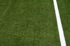 Listra branca no campo de futebol Imagens de Stock Royalty Free