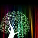 Listra colorida abstrata com árvore Fotos de Stock