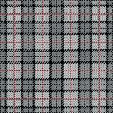 Listra de Plaid_Gray-Red do pixel Foto de Stock Royalty Free
