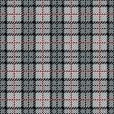 Listra de Plaid_Gray-Red do pixel ilustração royalty free