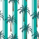 A listra do recurso de verão com teste padrão sem emenda da árvore do plam, vector fot ilustração royalty free